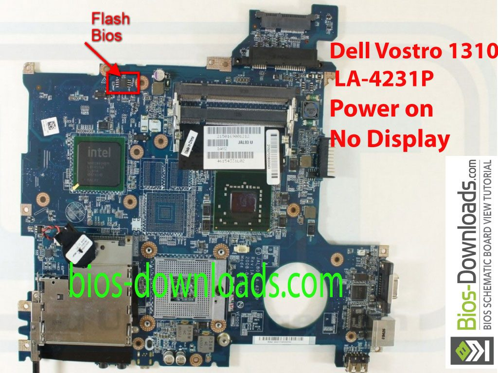 Dell Vostro 1310 JAL80 LA-4231P Rev 1A Power on No Display